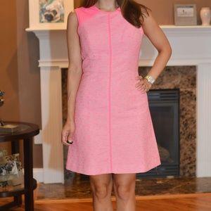 Shoshanna Penelope Neon Pink Tweed Dress
